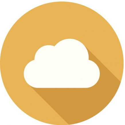 "Gold circle with cloud icon representing ""Special Offers""."