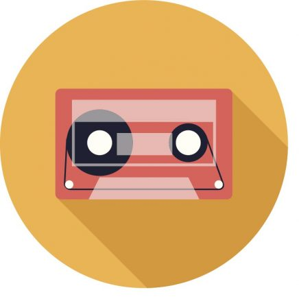 "Gold circle with cassette tape icon representing ""Special Offers""."