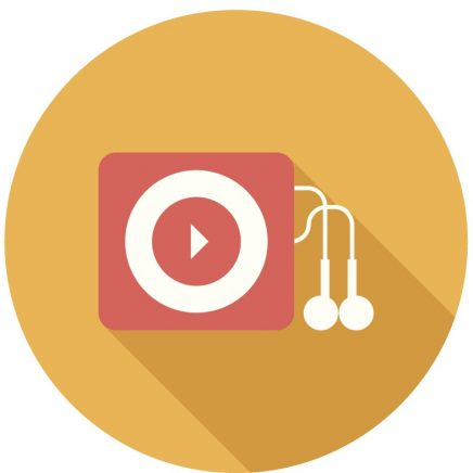 "Gold circle with earbuds icon representing ""Special Offers""."
